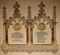 Memorial to Charles Lamb and William Cowper